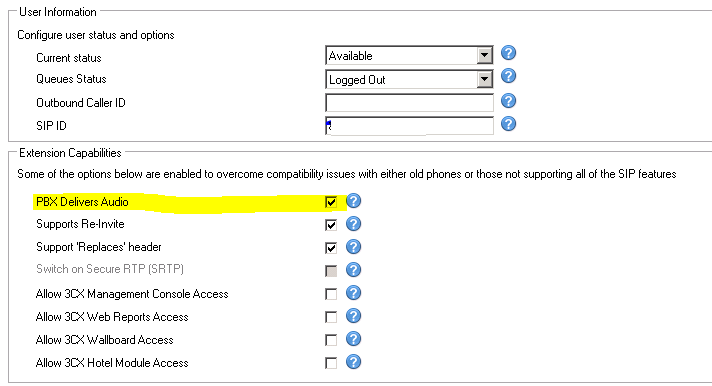 Solution to Unifi Vo-IP problem